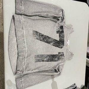 Xhilaration Cold Shoulder Sweatshirt Sz L 10/12